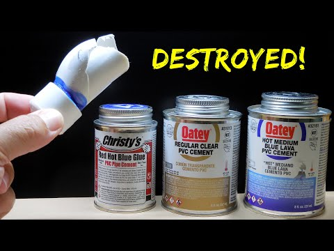 Pvc Cement Strength Testing Oatey Vs Christy S Red Hot Blue Glue Youtube