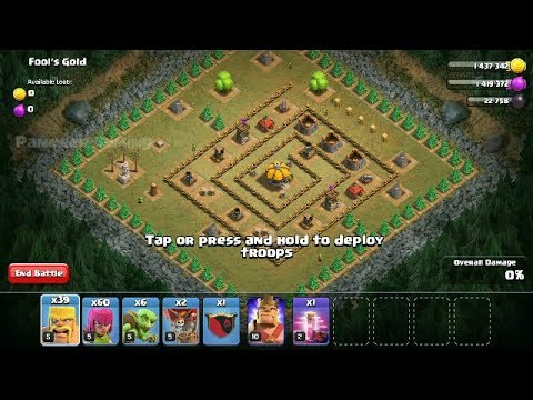 Clash Of Clans - Level 18 - Fools Gold - Single Player Campaign Walk-through