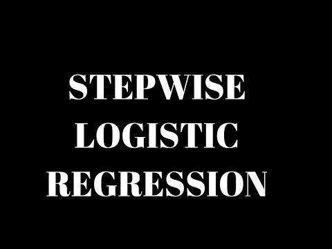 Stepwise Logistic Regression Example | Feature selection | Data Analytics