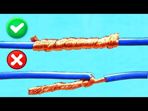 Смотреть AWESOME IDEA! HOW TO TWIST ELECTRIC WIRE TOGETHER! онлайн