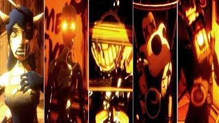 Bendy and the Ink Machine: CHAPTER 4 - ALL JUMPSCARES