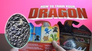 Surprise eggs with How to Train Your Dragon toys hatching fizzing