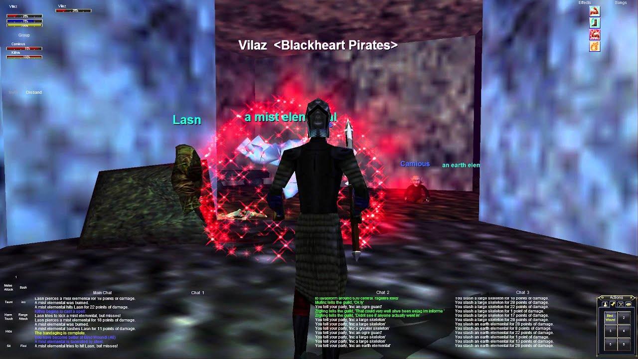 Everquest old school : Part 27 - Entrance Group - Najena - Dark Elf Shadow  Knight