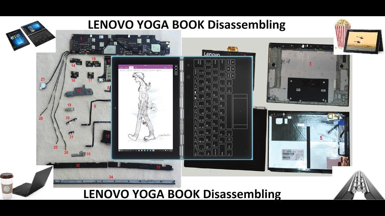 Lenovo Yoga Book Disassembly Razborka Youtube