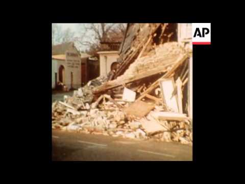 SYND 5-12-73 HOTEL AND PUB BOMB DAMAGE IN NORTHERN IRELAND