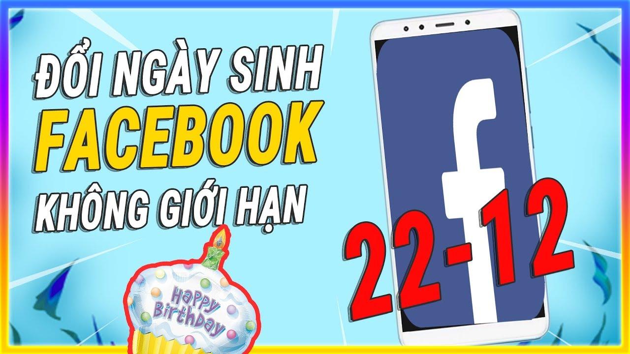 Cách đổi ngày sinh trên Facebook nhiều lần không bị giới hạn | Đổi ngày tháng năm sinh facebook
