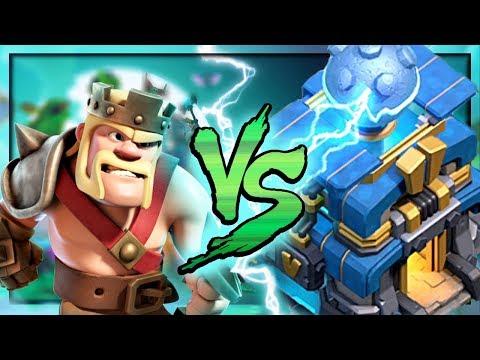 Barbarian King vs. GIGA Tesla! Clash of Clans Attacks!