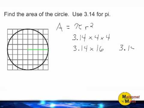 Using a grid to find the area of a circle youtube using a grid to find the area of a circle ccuart Image collections