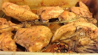 Healthy Rosemary / Lemon Chicken For Diabetics, But Good For All, From Amber Of Va.  Awesome Dish!!