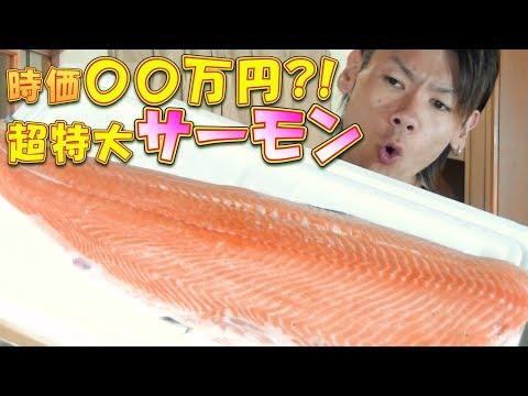 【大食い】超豪華‼超特大サーモンとイクラで親子丼‼~総重量約6.0kg~