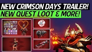 Destiny 2 Crimson Days - New Crimson Days Trailer, Fast Crimson Engrams Tip, Quest Rewards & More!