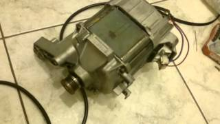 Ремонт Bosch WFT 2830. Подключение двигателя стиральной машины к 220 напрямую.