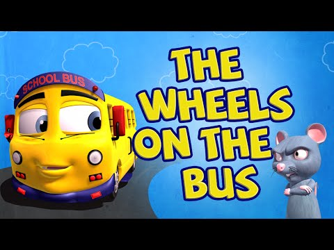 The Wheels On The Bus Go Round And Round Children Rhyme with lyrics