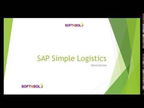 SAP S4 HANA Simple Logistics Training | SAP Simple Logistics ...