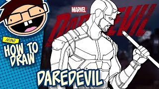How to Draw DAREDEVIL (Netflix Daredevil Season 2) Narrated Easy Step-by-Step Tutorial