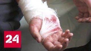 Ребенок, раненный в Горловке при подрыве мины, рассказал о трагедии - Россия 24