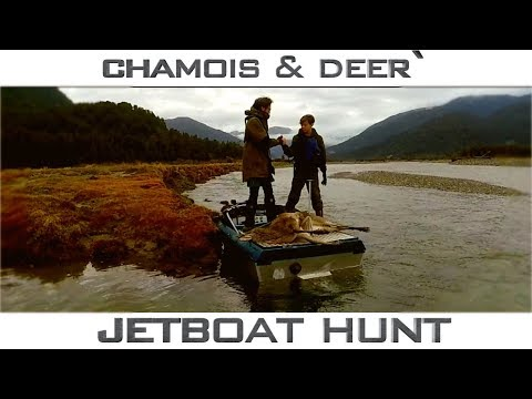 New Zealand jetboating mid winter deer and chamois hunting adventure