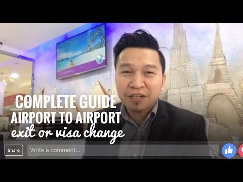 COMPLETE GUIDE SA AIRPORT TO AIRPORT EXIT (via FB Live)