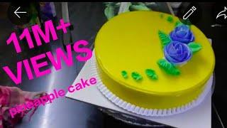 Fresh cream pineapple cake