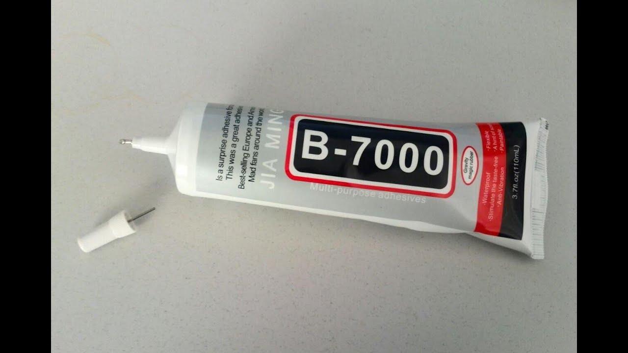 Клей для сенсоров телефонов B7000 - YouTube
