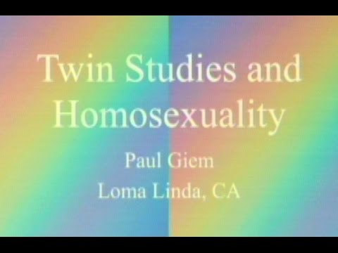 Twin Studies And Homosexuality 7-11-2015 By Paul Giem