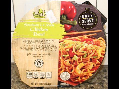 Park Street Deli (ALDI): Szechuan Lo Mein Chicken Bowl Review from YouTube · Duration:  4 minutes 52 seconds