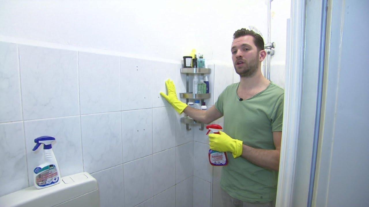 Badkamer Schimmel Verwijderen : Schimmel badkamer verwijderen klussen met oscar youtube