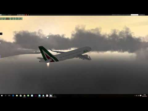 X-Plane 10 - IVAO LIMJ to LOWI with A320 Jar  - very hard landing with 22 knots of  laterl wind