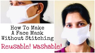 How To Make A Mask Without Stitching | Quick Reusable Face Mask | DIY | Ruchi's Crafeteria