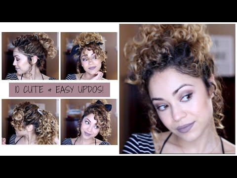 10 Cute & Easy Updo Looks on Curly Hair