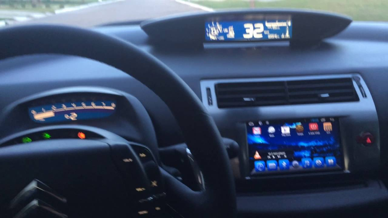 Citroen C4 Cactus >> Painel Citroen C4 Personalizado Fundo Azul Dígitos Brancos ...