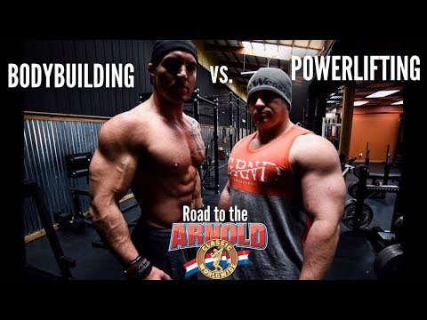 BODYBUILDING VS POWERLIFTING | ROAD TO THE ARNOLD