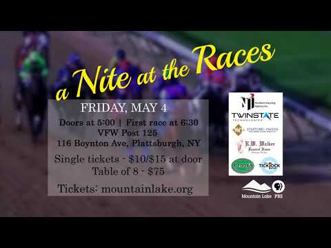 Join Mountain Lake PBS for A Nite at the Races! May 4, 2018