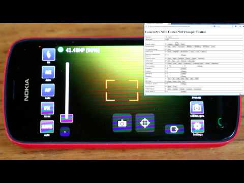 CameraPro NET Edition (Symbian): Wifi/Bluetooth camera remote control demo