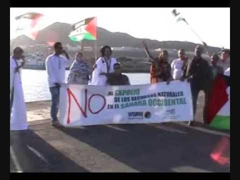 Western Sahara plundering - Saharawis protest Norwegian fisheries