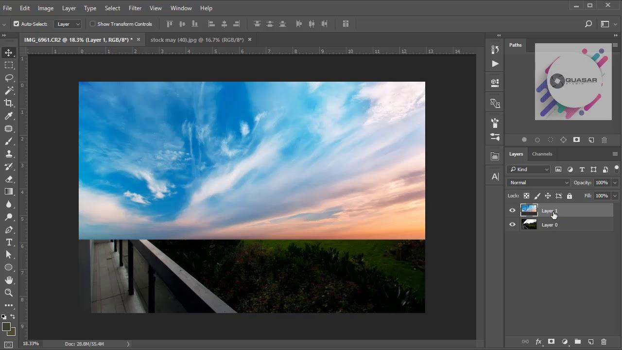 Adobe Photoshop CC2017 – Tách trời đơn giản và hiệu quả