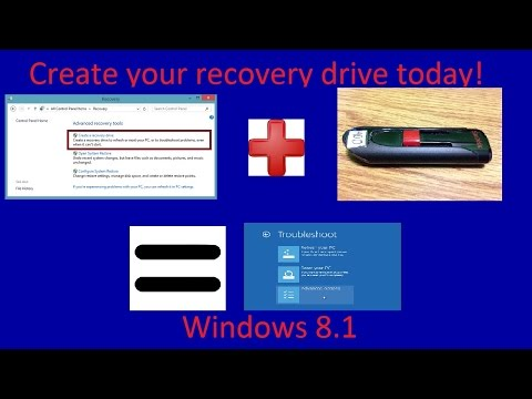How To Create Recovery Drive In Windows 8.1