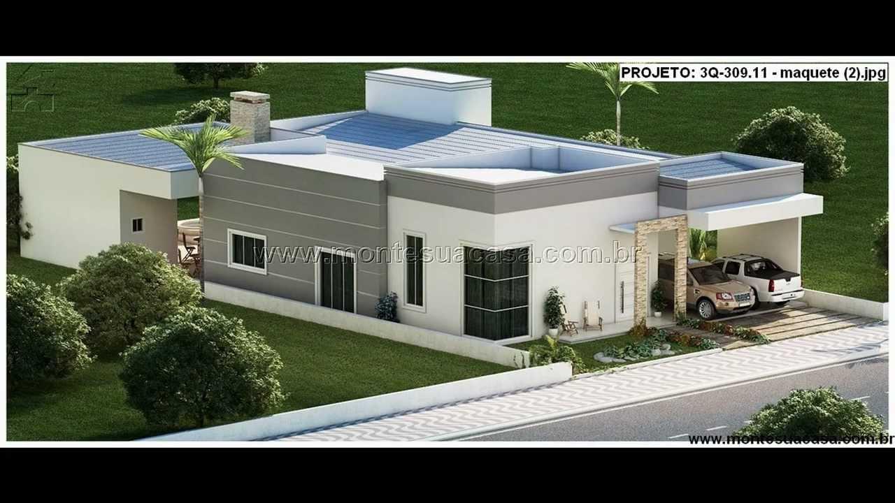 Fachadas de casas de 3 quartos youtube for Fachadas de casas modernas de 2 quartos