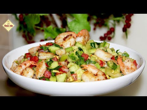 Очень вкусный салат с креветками. Салат с креветками и авокадо. Моя Dolce Vita