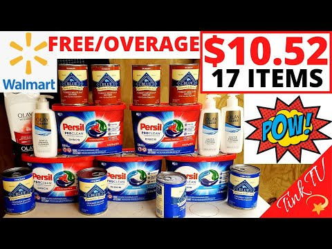 💥WALMART COUPONING |💥 FREE DOG FOOD + OVERAGE WITH COUPON| 💥.24 OLAY WITH COUPON💥 EASY COUPONING💥🔥
