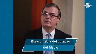 El canciller, Marcelo Ebrard, declaró su solidaridad con las víctimas del accidente de la línea 12 del metro, además reiteró su disposición para colaborar con las autoridades y esclarecer los hechos para deslindar responsabilidades