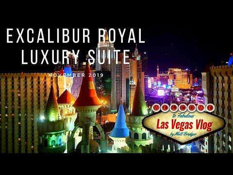 Excalibur Hotel & Casino Las Vegas (Royal Luxury Suite 28128) Room Tour 21st November 2019
