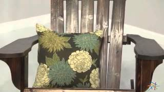 Torched Adirondack Rocking Chair - Product Review Video