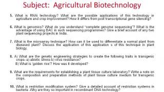 Recent research papers in biotechnology