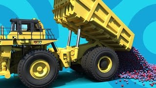 Kids Video - Dump Truck and Front end Loader - Educational animation