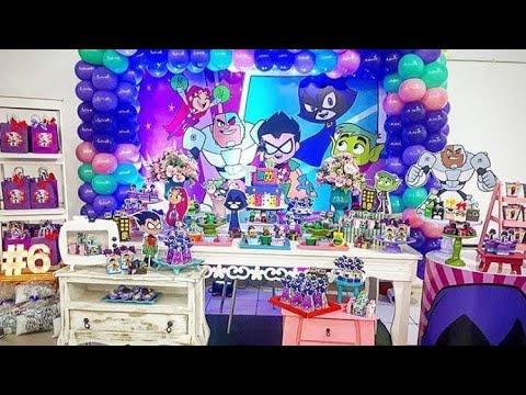 Fiesta De Los Jóvenes Titanes En Acción 2019party Birthdaymesa De Dulces Ideas