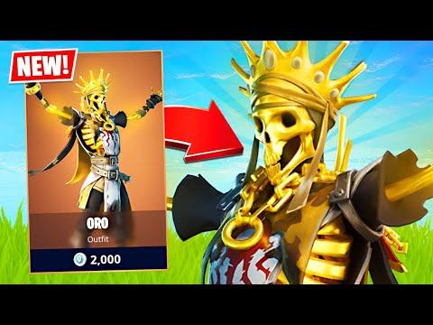New Legendary Oro Skeleton King Skin! (Fortnite Battle Royale)