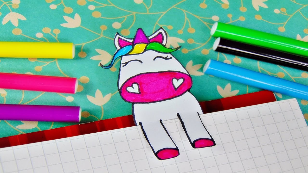Basteln Einhorn Lesezeichen Unicorn Bookmark Tutorial Diy