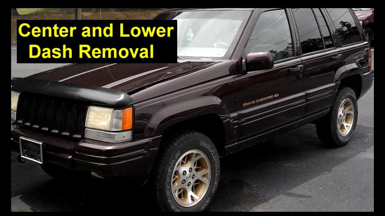 hight resolution of center and lower dash removal jeep grand cherokee votd
