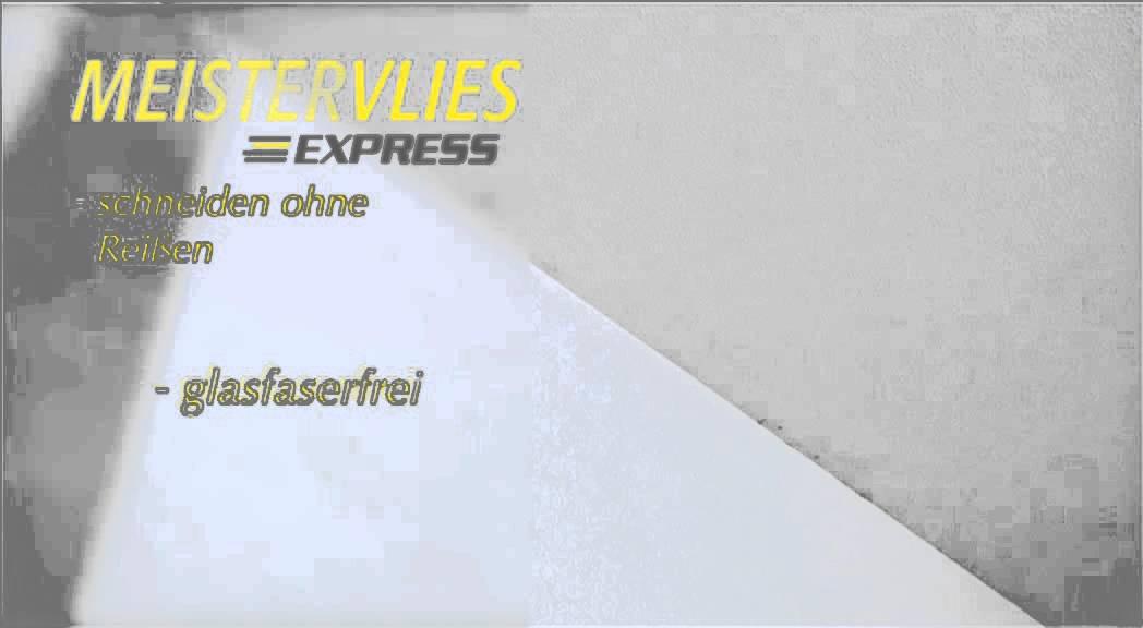 vliestapeten meistervlies express schnelles tapezieren mit der wandklebetechnik youtube. Black Bedroom Furniture Sets. Home Design Ideas